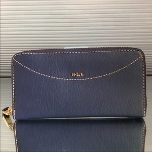 Ralph Lauren Navy and Gold Wallet